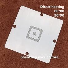 Doğrudan ısıtma 80*80 90*90 EDC7/EDC16 MPC561/562/555 MPC562MZP56 MPC561MZP5 0.6MM BGA Stencil Şablon