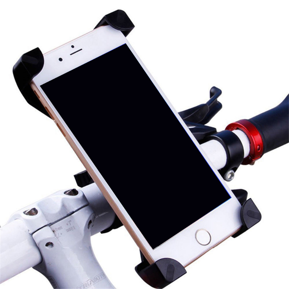 Universal Bicycle Phone Holder For IPhone Mount Bracket Handlebar Clip Stand 360 Degrees Rotatable For Smart Phones