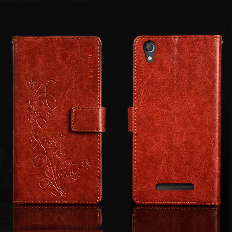 Pierves G0 Luxury Flip PU Leather Wallet Cover Phone Case For Senseit A247
