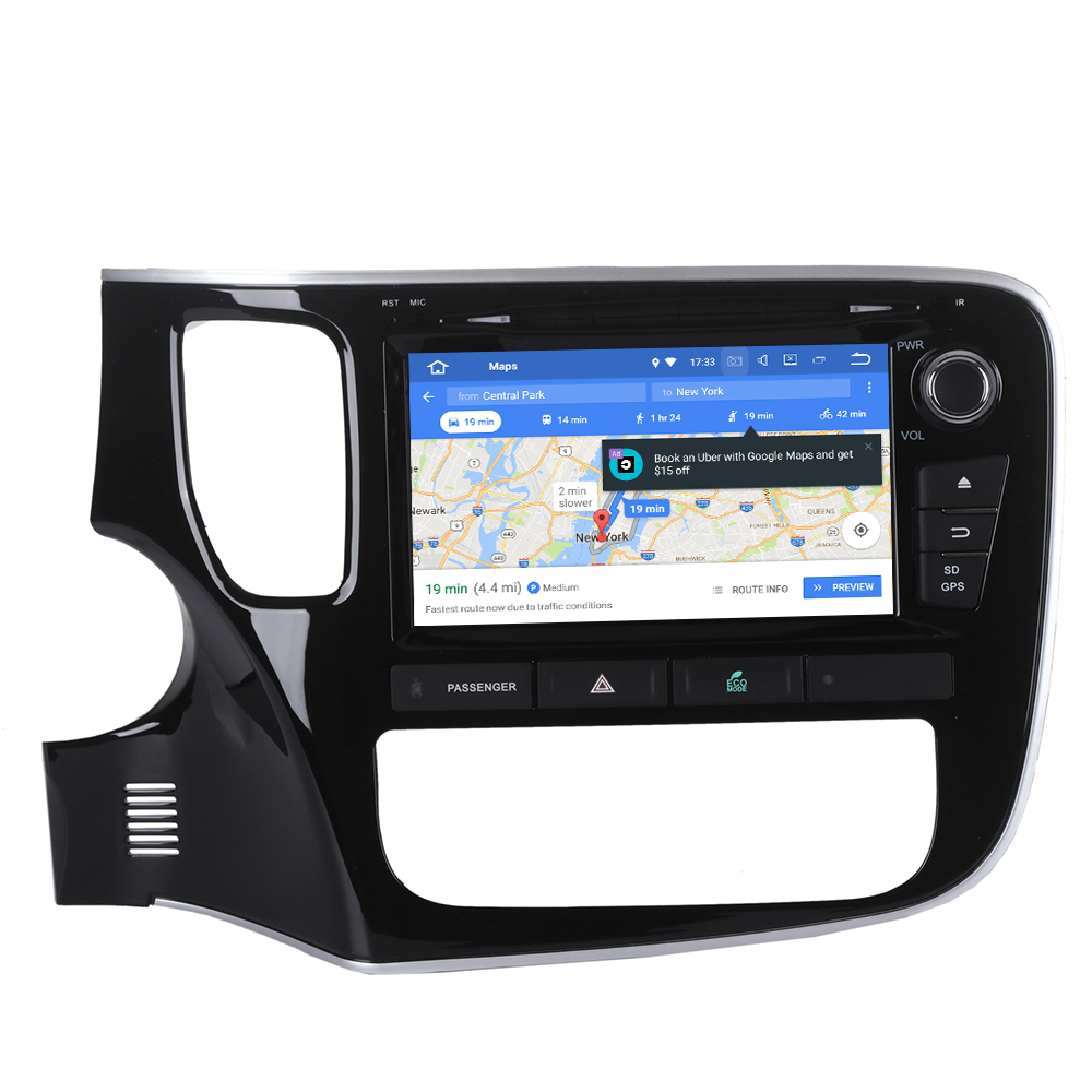 Top Android 9 Car GPS navigation Car DVD player For Mitsubishi OUTLANDER 2014 2015 2016 2017 multimedia radio tape recorder headunit 5