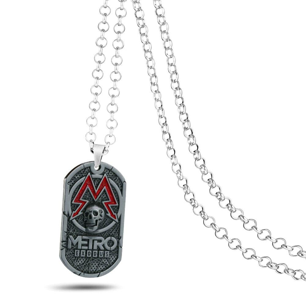 Game Metro Exodus 2033 Necklace Pendants Metal Souvenir Pendant Tag Fashion Games Choker kolye Men Jewelry Gift