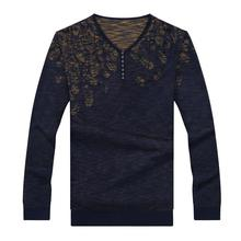 Ali 8XL 7XL 6XL Autumn Winter New Thick Warm Sweater Men Knitted Cashmere Wool Pullover Men Fashion Patchwork V-Neck Pull Homme