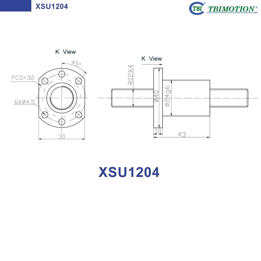 1Pcs Ball nut housing 1204 for SFU1204 SFU1205 SFU1210 ball screws nut bracket