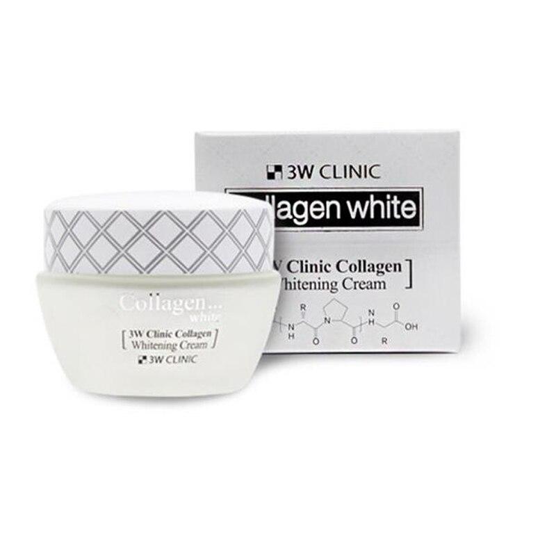 BEST Korea Cosmetic 3W CLINIC Collagen Whitening Cream 60ml Face Cream Skin Care Whitening Moisturizing Effective Repair