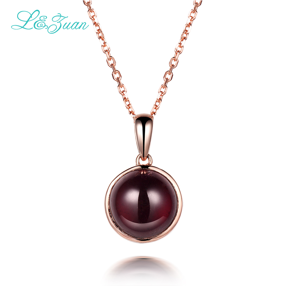 925 Sterling Silver Natural 5.41ct Garnet Red Stone Necklace & Pendant Silver Fine Jewelry For Woman Gift With Silver Chain genuine 925 sterling silver jewelry small pendant with matching silver box chain necklace cute gift for teenage girls pendant