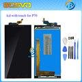 Garantia 100% display lcd e montagem da tela de toque para lenovo p70 para lenovo p70-t p70t branco preto + ferramentas frete grátis