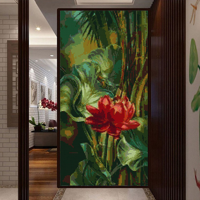5d DIY diamante pintura cristal paisaje Bordado flores Pegatinas ...
