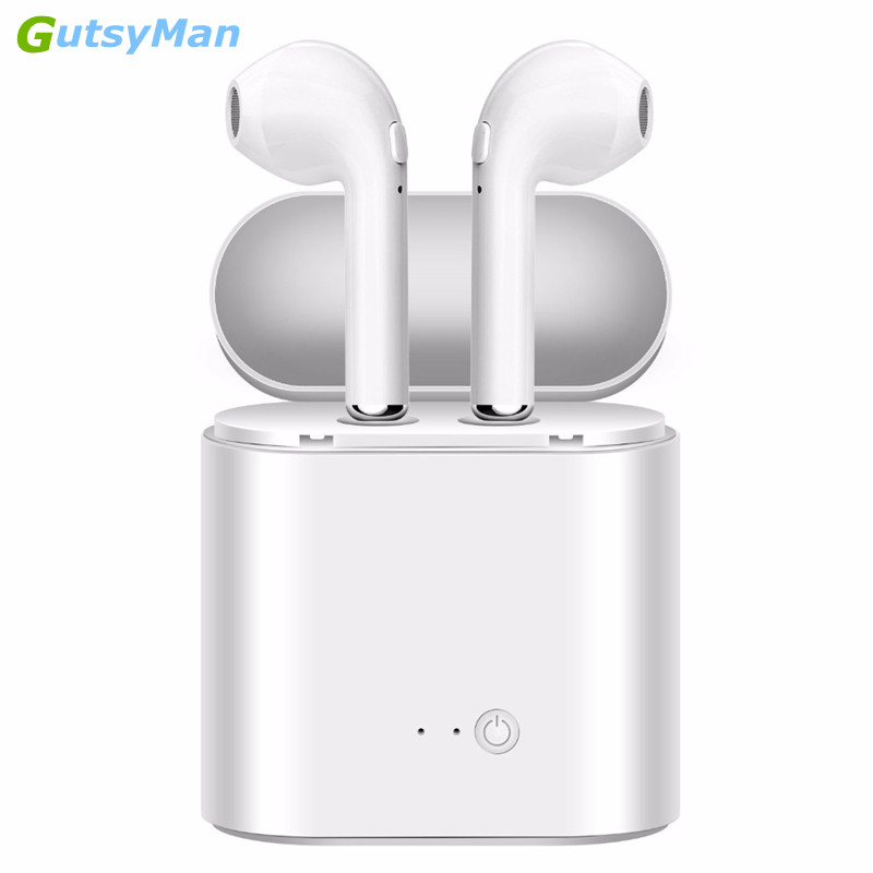 GutsyMan i7s Mini Twins Bluetooth Earphones wireless headphones Air pods In Ear Earbuds stereo headset For apple iPhone Samsung