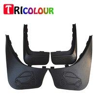 TRICOLOUR 4Pcs Set Car Mud Flap Splash Guard Mudguard Fenders Fit For Benz Smart 2012 2013