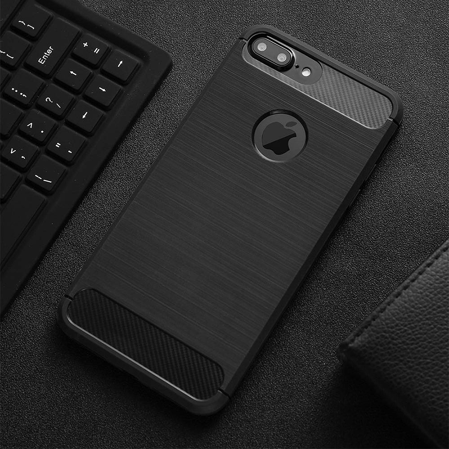 Luxury Shockproof Phone Case For iPhone 7 7 Plus 6 6s Plus 5 5s SE Case Carbon Fiber Soft TPU Drawing Phone Cases Back Cover New
