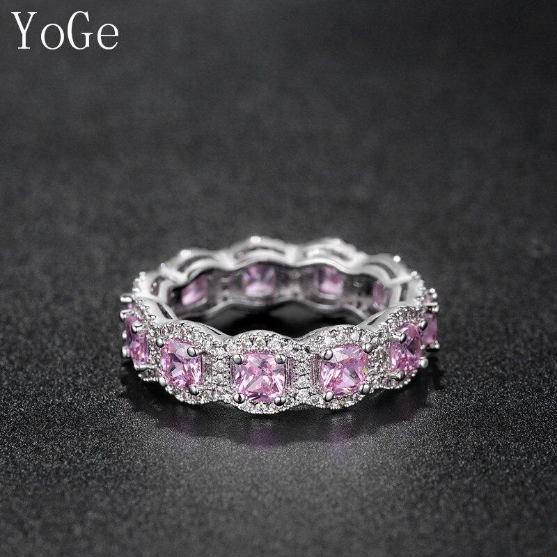 Bague en cristal Rose pour la mariée