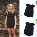 Summer Kids Playsuit Clothes Outfit Sunsuit  Romper Baby Girls black Romper Jumpsuit  0-5 Years