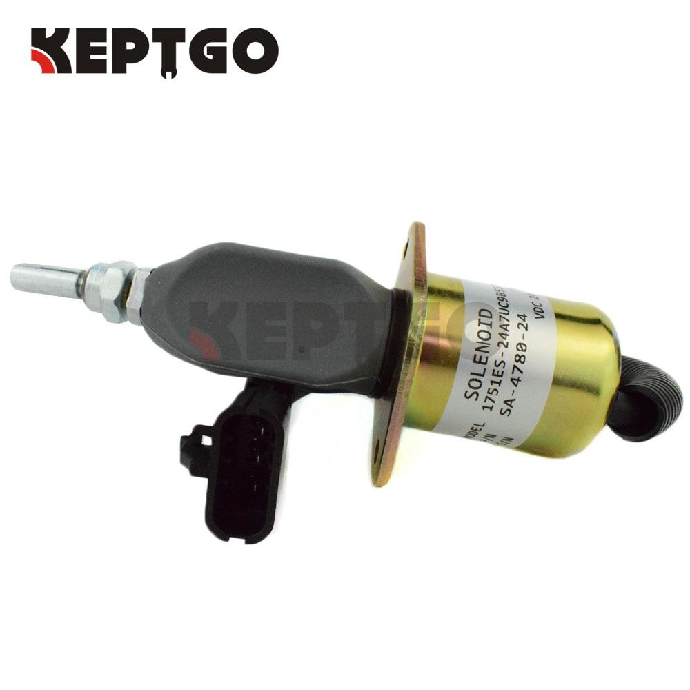 Fuel Shutoff Solenoid Valve 1751ES-24A7UC9B5S5, SA-4780-24, SA-4780 24v 3924450 2001es 12 fuel shutdown solenoid valve for cummins hitachi