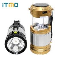 Inklapbare Lantaarn Voor Wandelen Camper Tent Led Camping Licht Zaklamp Emergency Lamp Zonne-energie Lichtgewicht Hand Licht