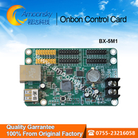 Led control card BX-5M1 with Ethernet and USB port for single color P10 led screen