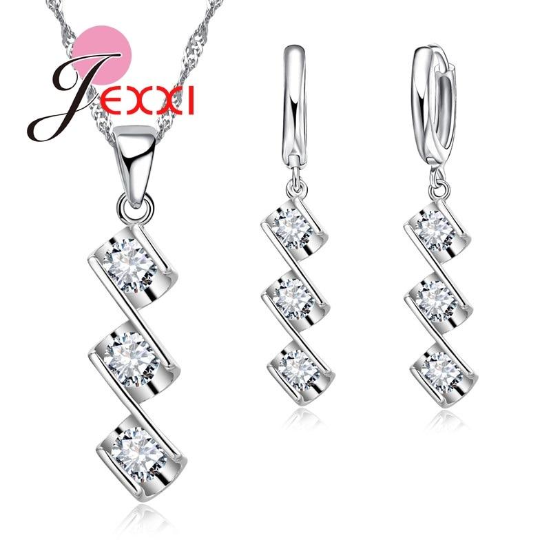 Patico aniversario moda cóctel de la joyería de plata para las mujeres triple cr