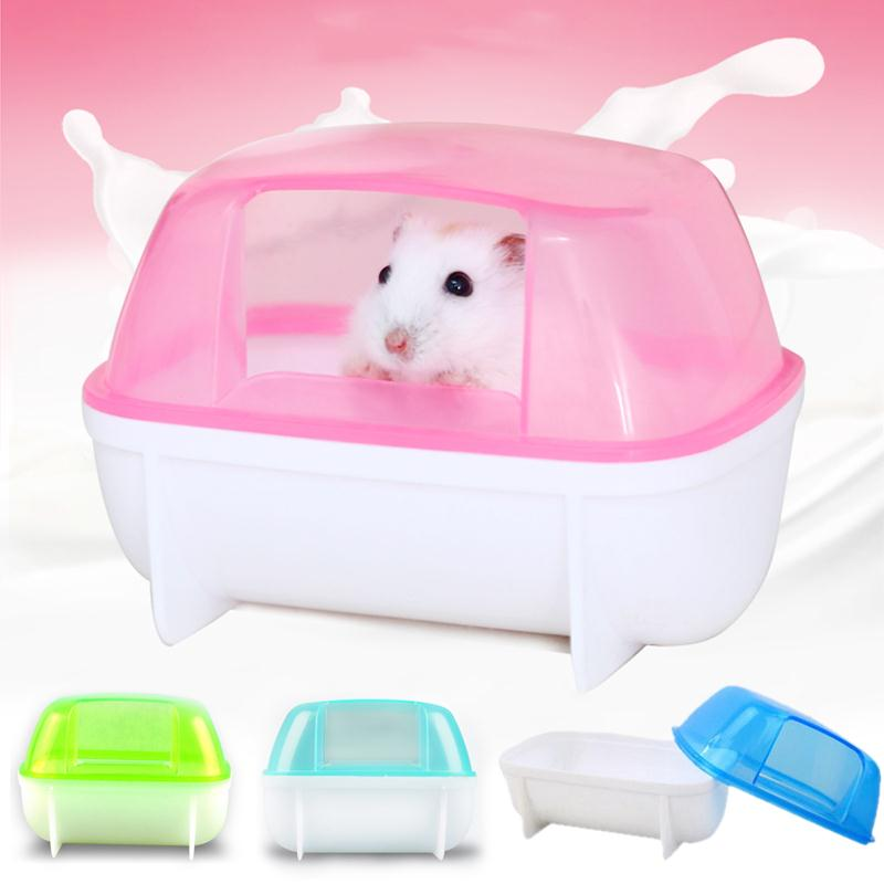 Hamster Bathroom Small Animal Hamster Sauna Sand Bath Room Bathroom Potty Toilet Plastic Pet Supplies Drop Shipping