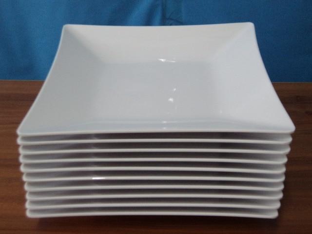 Melamine Dinnerware Dinner Plate Square Plate Western Restaurant Dishes A5 Melamine Tableware French Noodle Plate Private & Melamine Dinnerware Dinner Plate Square Plate Western Restaurant ...