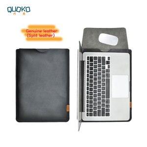 Venta de funda ultradelgada superdelgada, funda para portátil de piel auténtica, funda para MacBook Pro Air 13 15 16