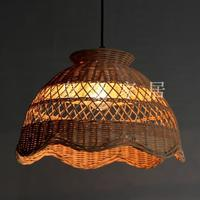 Bamboo And Rattan Craft Pendant Lights Creative Attic Garden Decoration Lighting Handmade Restaurant Study Cafe Pendant