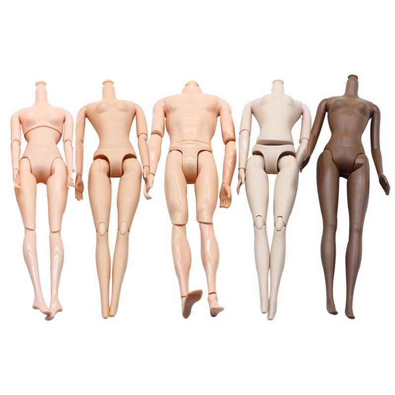DIY Imitation Demon Monster Dolls Naked Body Without Head For High Dolls Fairytales Doll Bodies 5 Colors