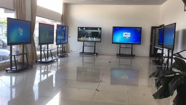 Floor stand or wall mounted i7 windows OS 98 inch smart television with touch screen and PC built in 4K LED TV