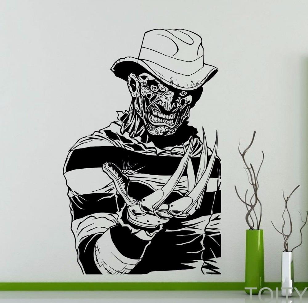 Aliexpress Com Buy Freddy Krueger Wall Decal Nightmare