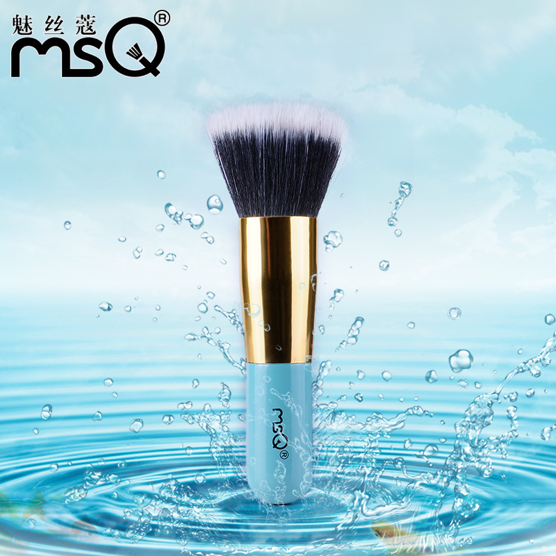 Single Cosmetics Flat Foundation Brush Makeup Brushes Professional Blue Powder Blush Brushes Facial Care Facial Beauty Selling single sided blue ccs foam pad by presta