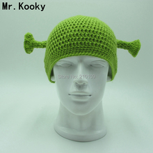 629464273ef Mr.Kooky Cute Monster Shrek Beanies Men s Women s Lovely Hat Funny Animal  Caps Birthday Unique