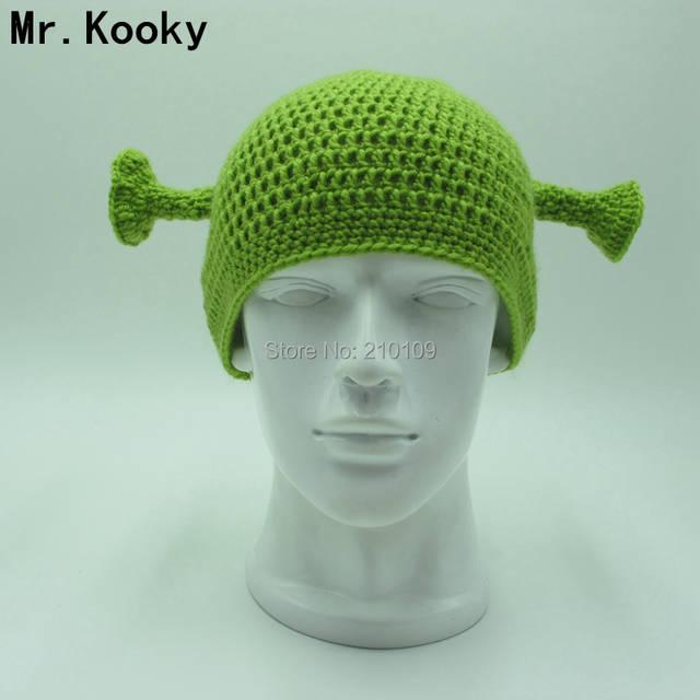 d4825ab6e Mr.Kooky Cute Monster Shrek Beanies Men's Women's Lovely Hat Funny Animal  Caps Birthday Unique Gifts Handmade Warm Winter Gorros