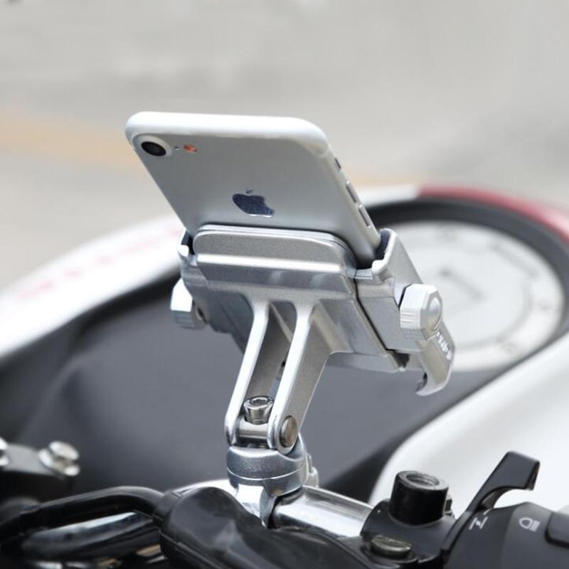 Aleación de aluminio motocicleta de la bici del montaje del manillar Holder 360 grados de rotación titular del teléfono para el iPhone X 8 7 6 s Universal para Xiaomi