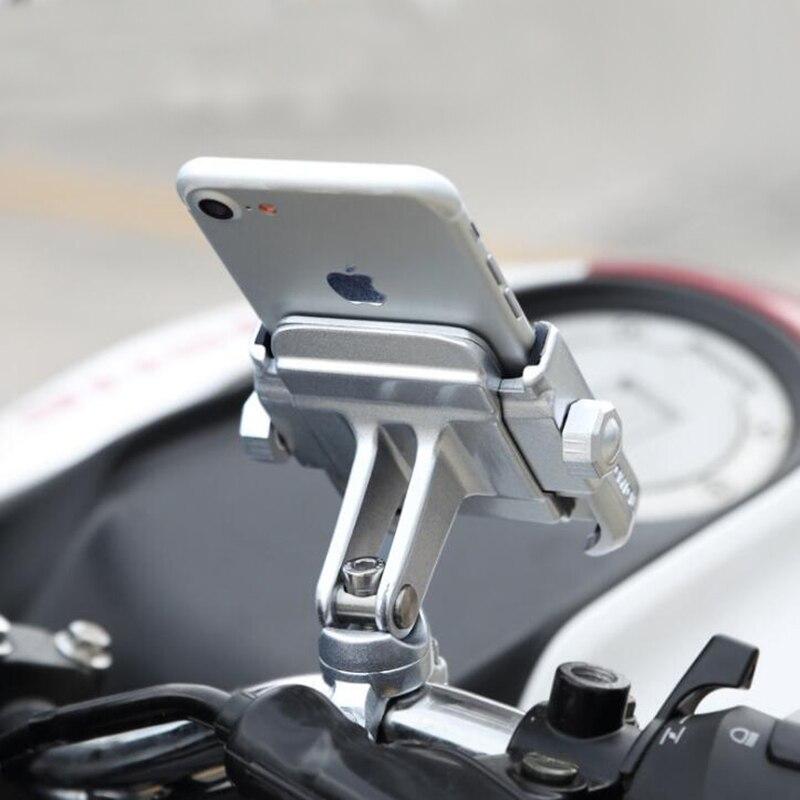 Aluminiumlegierung Fahrrad Motorrad Lenker Halterung 360 Grad Rotation Handyhalter für iPhone X 8 7 6 s Universal für Xiaomi
