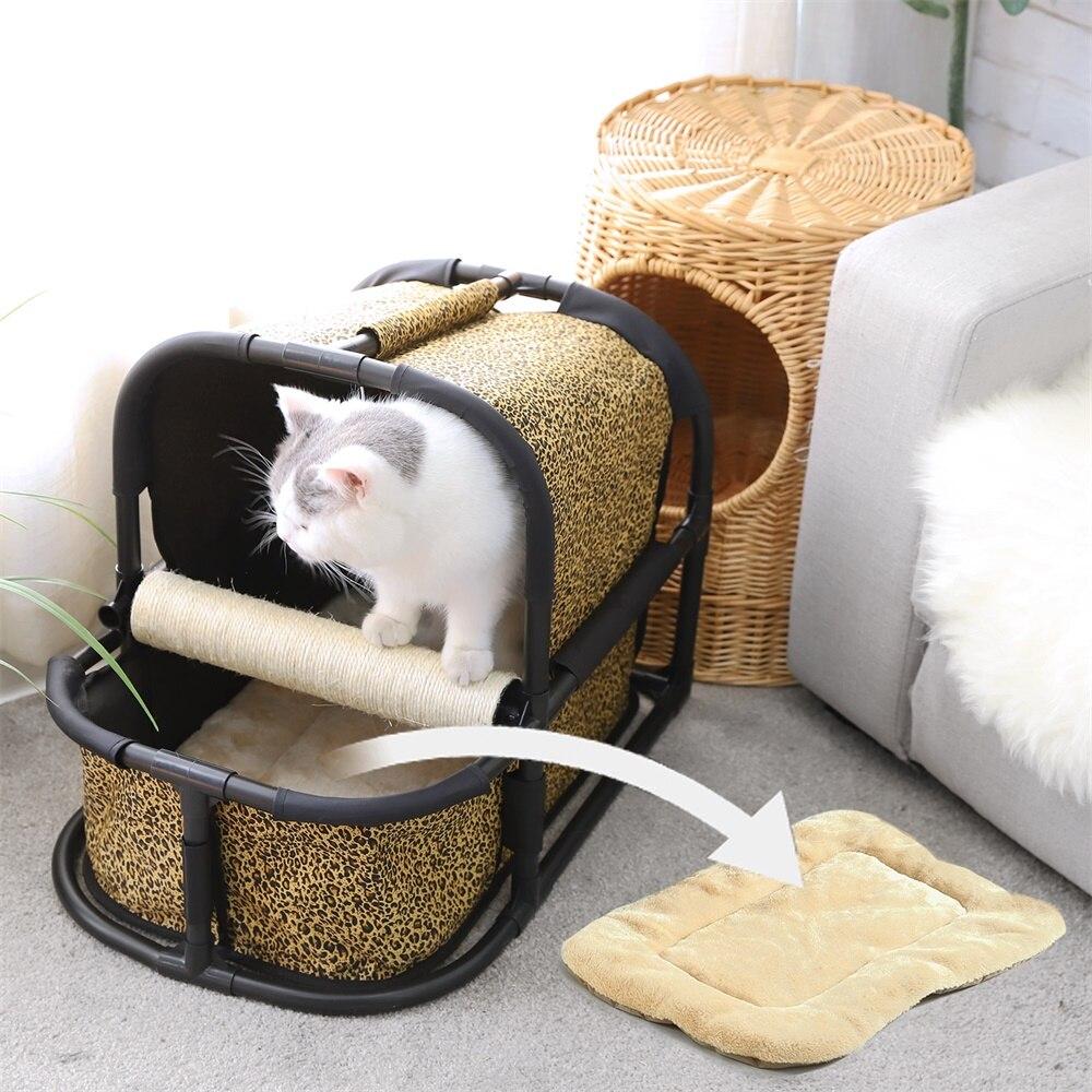 Chat chenil multi-fonctionnel escalade saut cadre avec Sisal gratter Post jouets détachable chat arbre maison pour animaux chatons