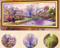 The Cross Embroidery Country House Full Diamond Embroidery Landscape Mosaic Painting By Numbers Full Diamond Embroidery