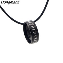 P2696 Dongmanli Viking necklace Viking runes pendant necklace stainless steel Men necklace Viking jewelry Norway Valknut(China)