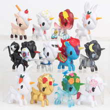 12pcs/lot Unicorn Horse PVC Toys & Hobbies Action Figure Toys(China)