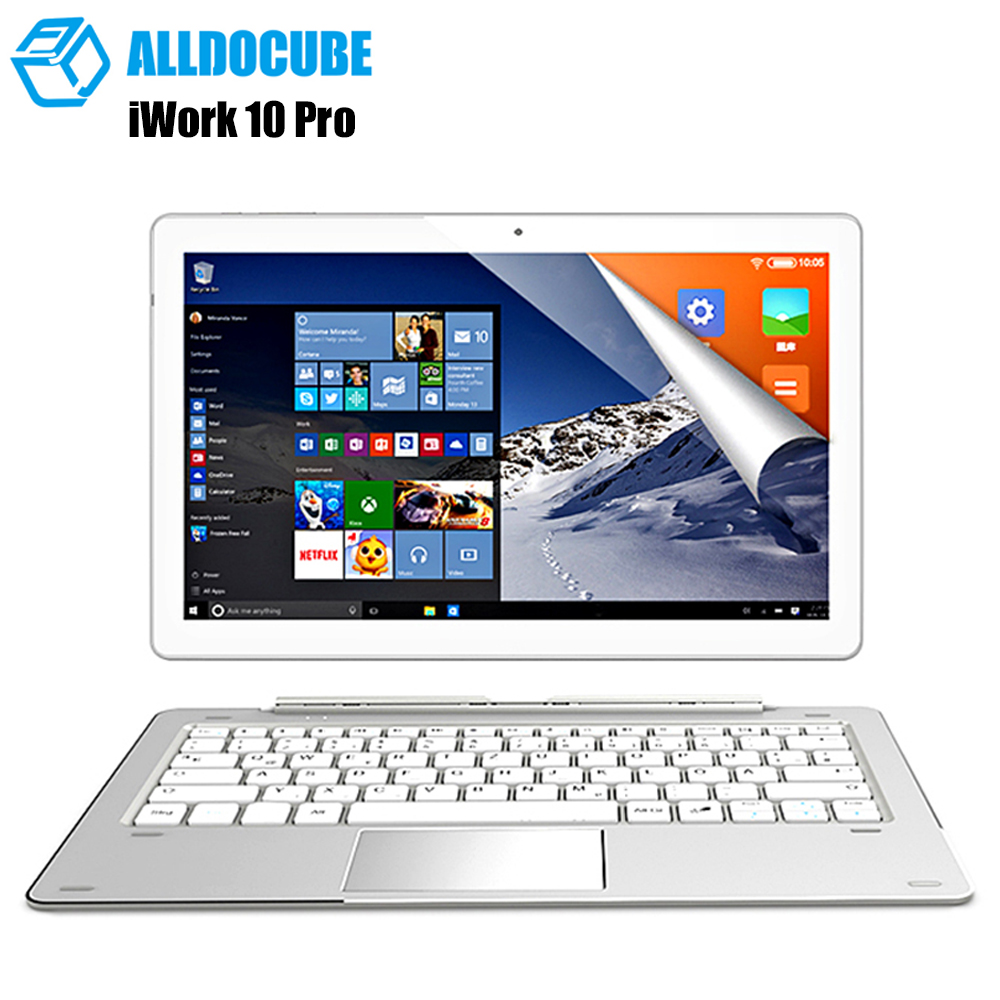 ALLDOCUBE IWork <font><b>10</b></font> Pro 2 Inch 1 <font><b>Tablet</b></font> PC Intel Atom X5-Z8350 4GB Ram 64GB Rom 1920*1200 IPS <font><b>10.1</b></font> Inch Windows10 Android 5.1 image