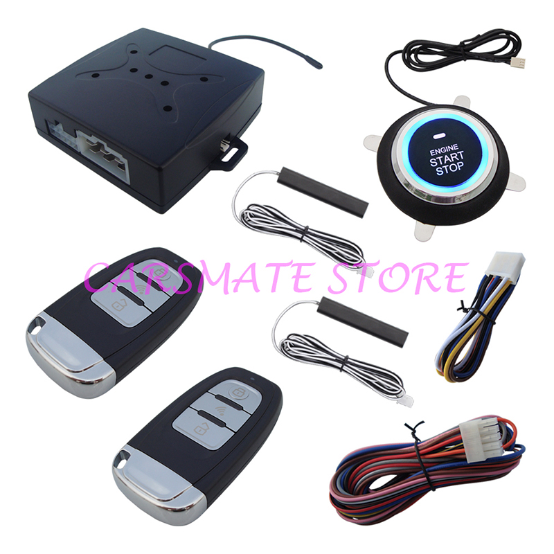 Smartkey PKE Car Alarm Hopping Code with Remote Start Push Start Remote Trunk Release Output Suitable for 12V Cars Carsmate виниловая пластинка skillet rise 1lp