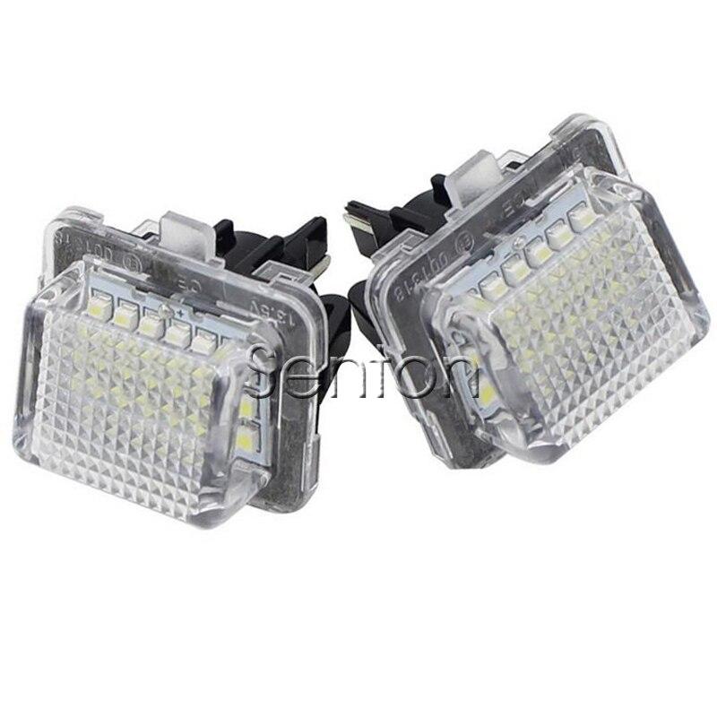 ∞1 par coche número Marcos de matrícula luz 12 V blanco SMD LED ...