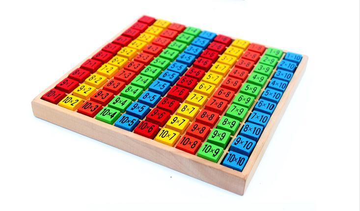 무료 배송 아기 나무 장난감 99 곱셈 테이블 수학 - 학습 및 교육 - 사진 4