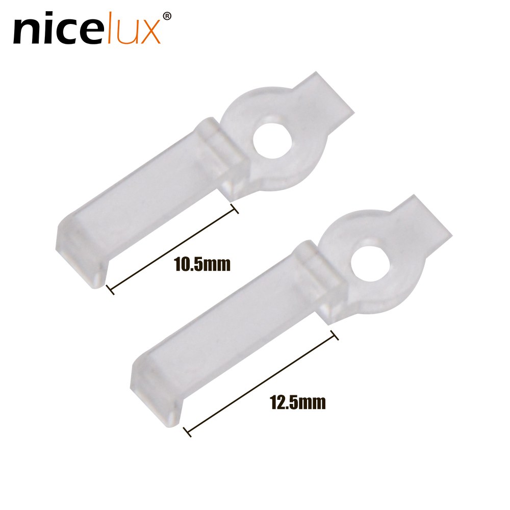 LED Fixing Mounting Clips Connector For DIY 220V 5050 3528 IP67 IP68 Waterproof LED Tube Tape Light RGB LED Strip Clamp Brackets