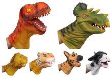 Funny Mănuși Animale de mână Puppet Modele de animale mari Dinosaur de animale Capete Vinyl Doll Simulare Model Jucarii pentru copii YH1169