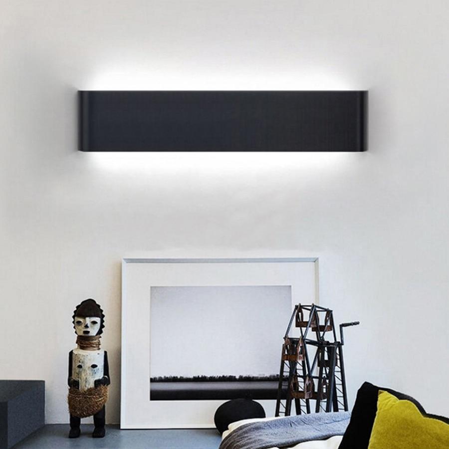 Thrisdar 6 w en aluminium moderne minimaliste mur led lampe salon chambre lampe de chevet miroir