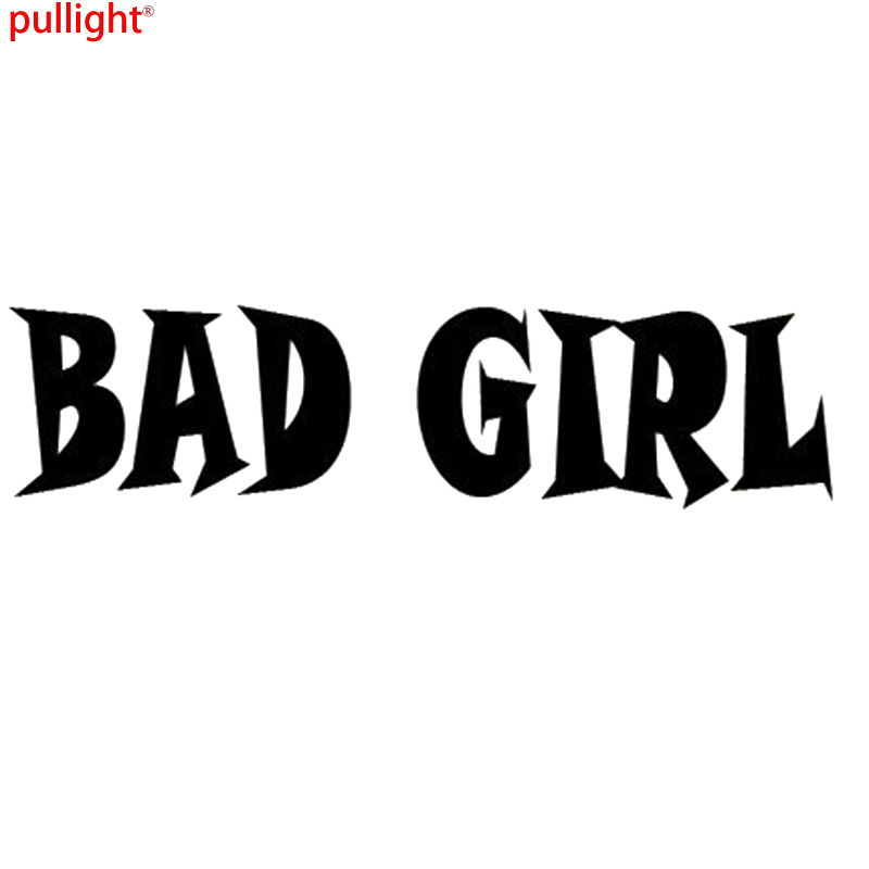 BAD GIRL Funny Novelty Joke Car Window Bumper Vinyl Sticker Drift