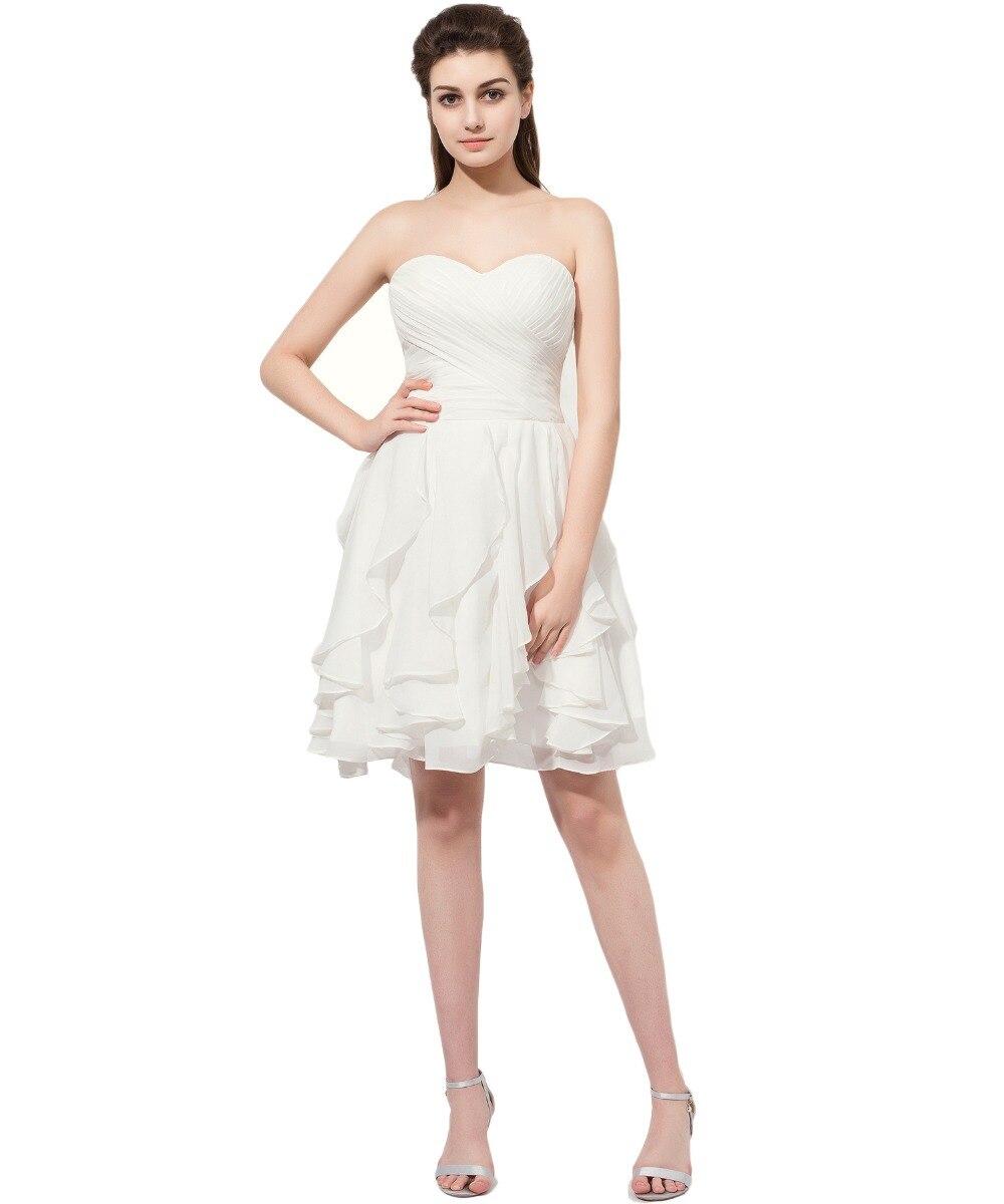 Popular White Strapless Short Prom Dress-Buy Cheap White Strapless ...
