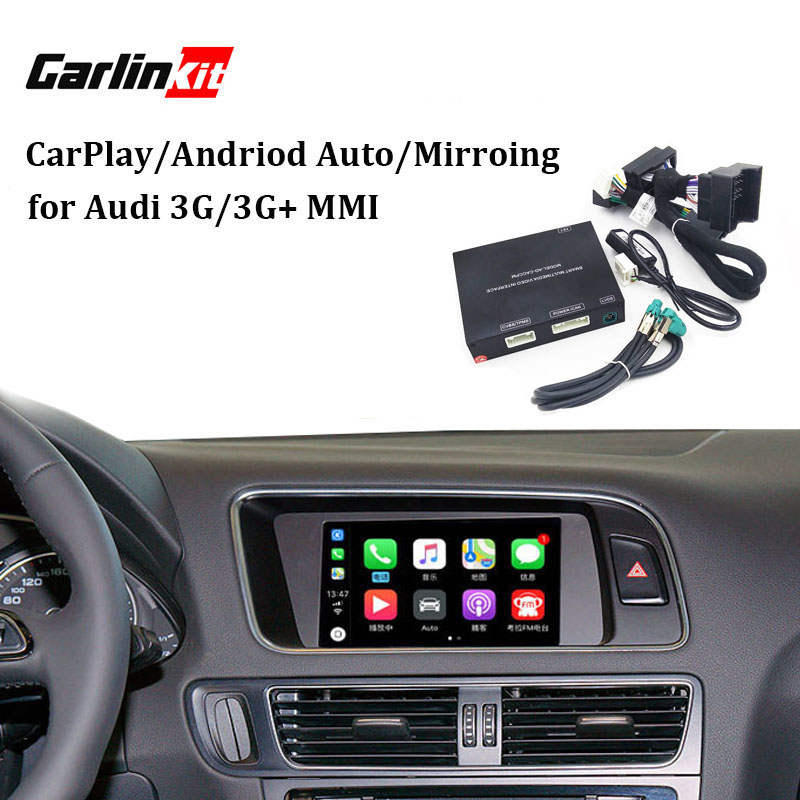 Interfaccia Video con Apple Carplay per A7 A3 Q3 A4 A6 A5 B9 Q5 Q7 Dello Schermo Originale di Aggiornamento del sistema MMI iOS AirPlay