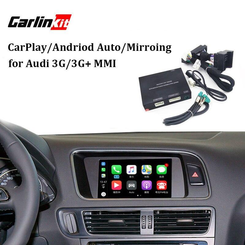 Vidéo Interface avec Apple Carplay pour A7 A3 Q3 A4 A6 A5 B9 Q5 Q7 D'origine Mise À Niveau de L'écran système MMI iOS AirPlay