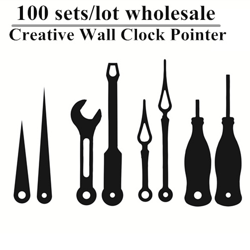 100 Sets DIY Clocks Pointer Parts Classic Hanging Wall Clock Hand Repair Parts Replacement Essential Tools Needle