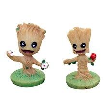 цена на Cartoon Fairy Tree Man Baby Figurines Cute Resin Crafts Mini Model Miniatures Garden Decor Home Decoration Accessories Toy Gifts