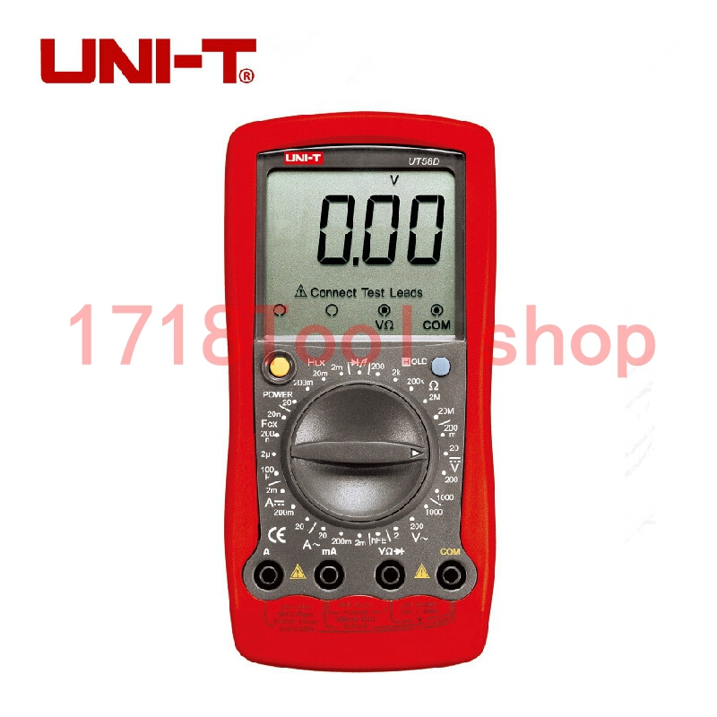 Uni T Ut58d Volt Amp Ohm Hz Temperature Digital Multimeter Red Black Digital Multimeter